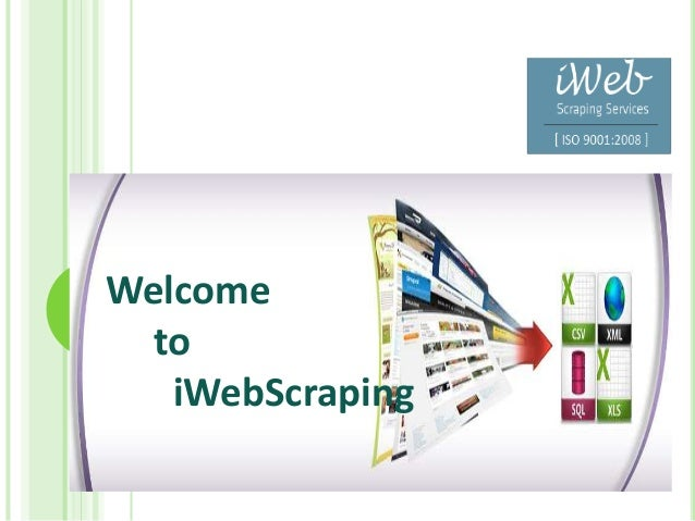 Welcome to iWebScraping