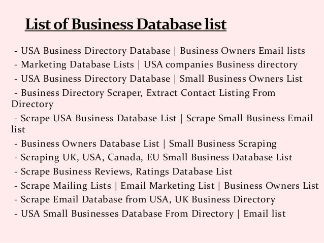 Scrape Small Business Owners And New Businesses Email list