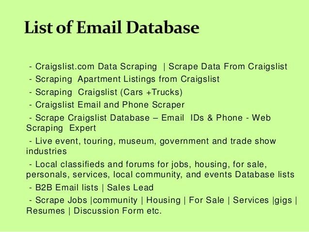 Scraping phone list from craigslist