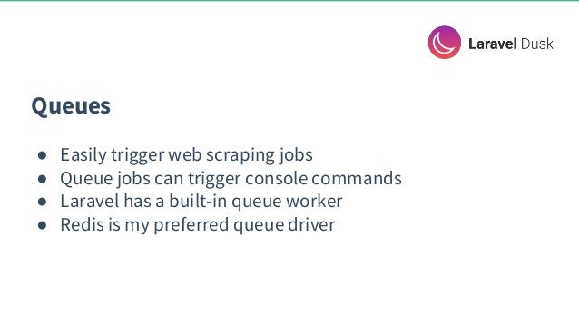 Scraping the web with Laravel, Dusk, Docker, and PHP