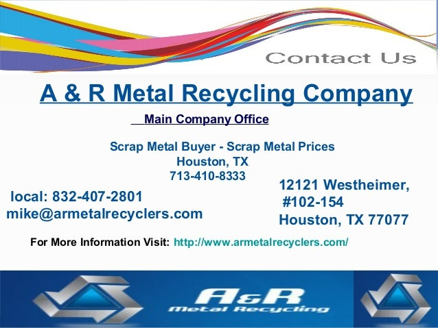 Scrap Metal Recycler By A Amp R Metal Recycling Company