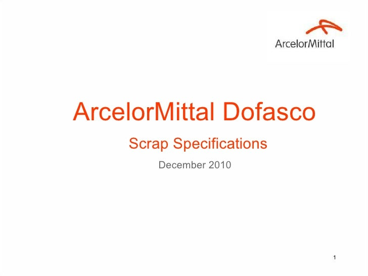 ArcelorMittal Dofasco   Scrap Specifications December 2010