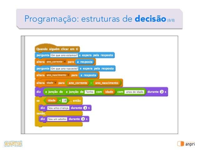 ! Programação: estruturas de decisão(8/8)