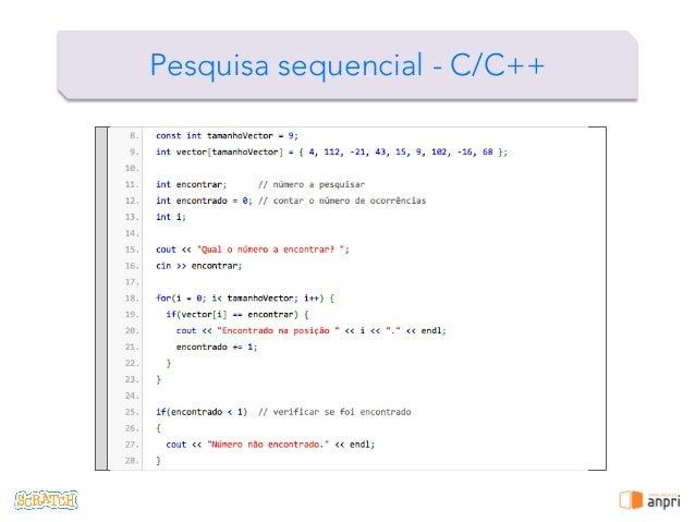 ! Pesquisa sequencial - C/C++