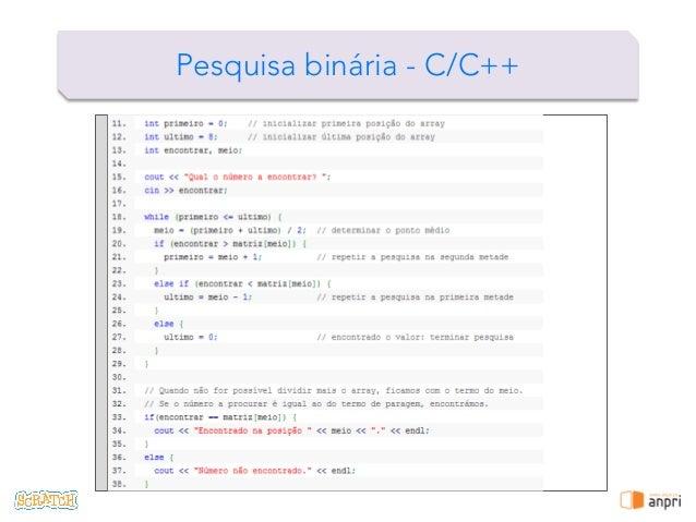 ! Pesquisa binária - C/C++
