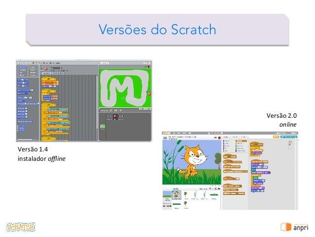 ! Versões do Scratch Versão  1.4   instalador  offline   Versão  2.0   online