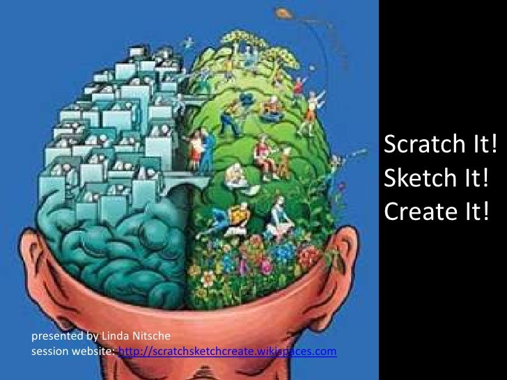 Scratch It!Sketch It!Create It!<br />presented by Linda Nitsche<br />session website: http://scratchsketchcreate.wikispace...