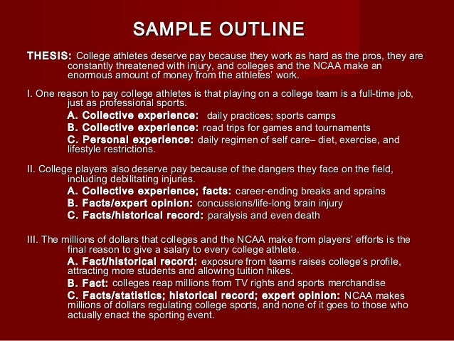 scratch outline 6 thesis thesis college athletes deserve pay
