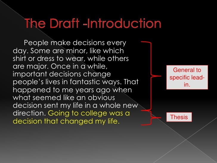 life changing decision essay Nell wulfhart is a decision coach who helps people quit procrastinating, make important decisions, and move on with their lives you can check her out at wwwdecideandmoveforwardcom.