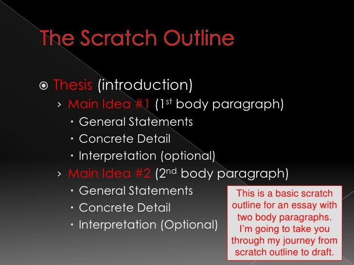 scratch outline examples