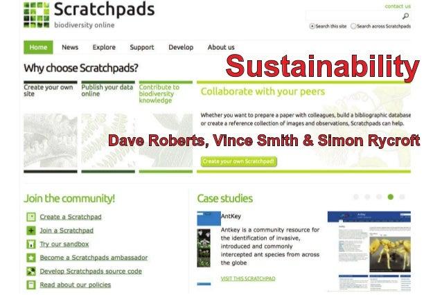 SustainabilityDave Roberts, Vince Smith & Simon Rycroft