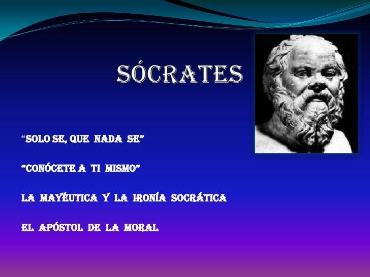 Ironias De La Vida Frases: Sócrates Power Point