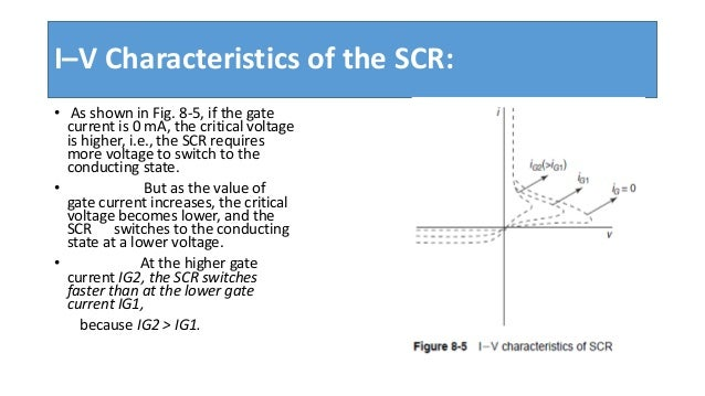 silicon controlled rectifier14 i\u2013v characteristics of the scr