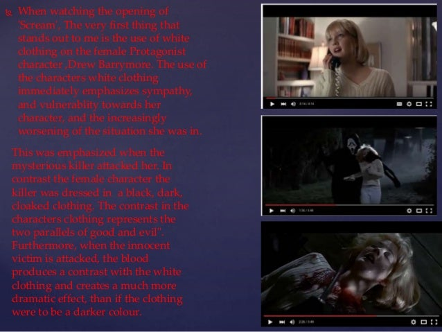{ SCREAM opening sequence analysis; 2.