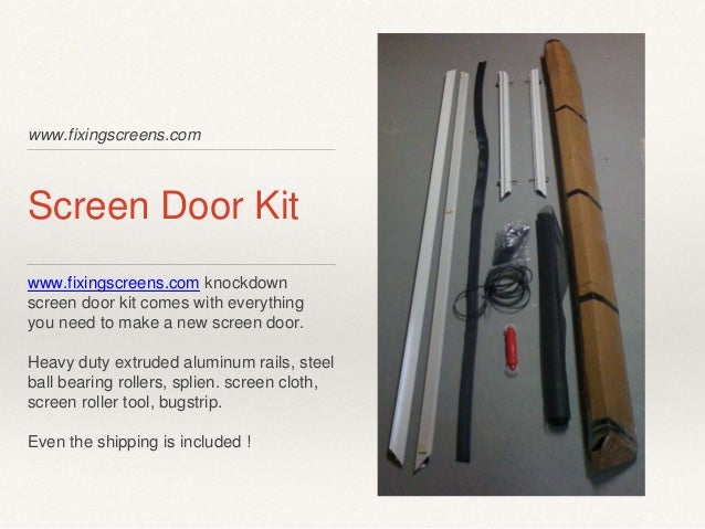 ... 2. Www.fixingscreens.com Screen Door ...