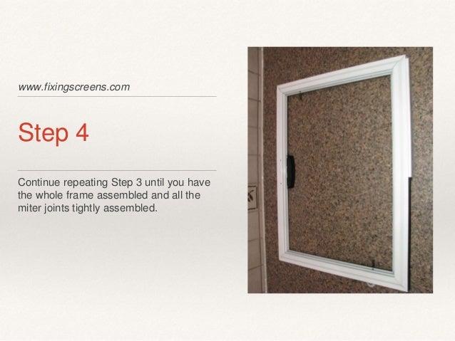 Do It Yourself sliding screen door kit instructions