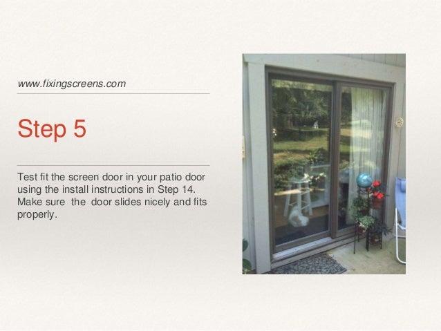 Do it yourself sliding screen door kit instructions 7 solutioingenieria Gallery