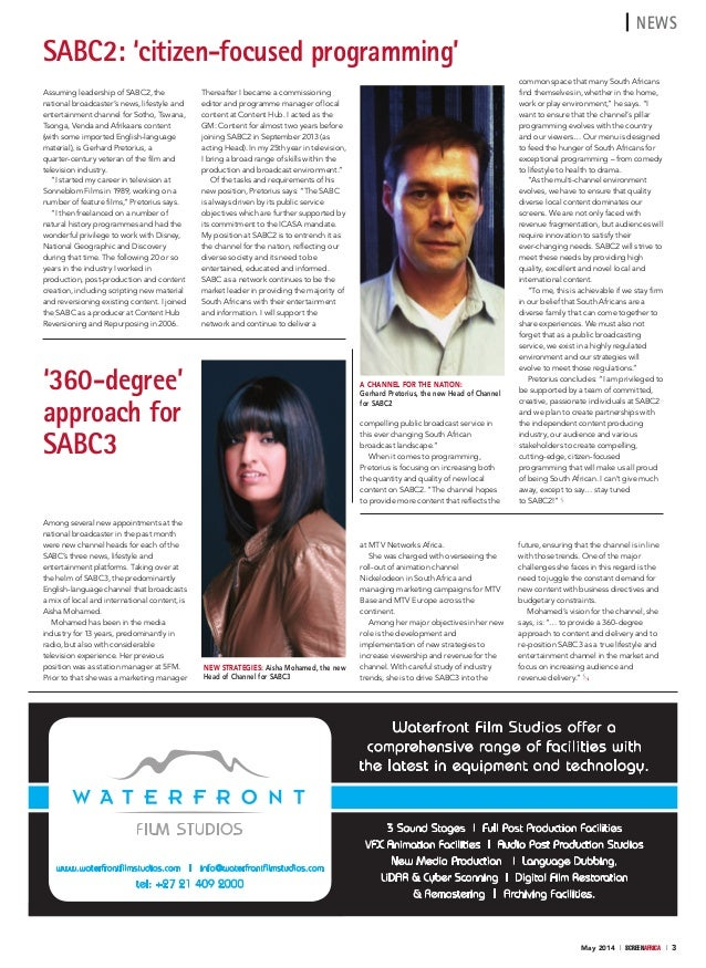 Screen Africa Magazine May 14 2014