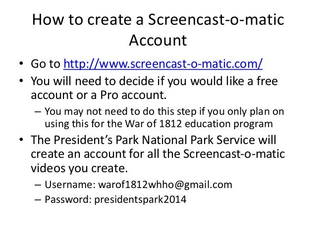 screencast o matic free