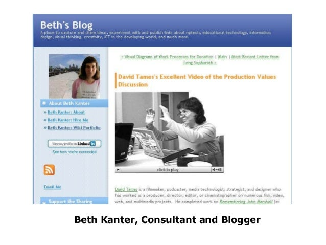 Beth Kanter, Consultant and Blogger