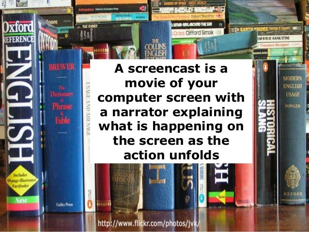 A screencast is a movie of your computer screen with a narrator explaining what is happening on the screen as the action u...