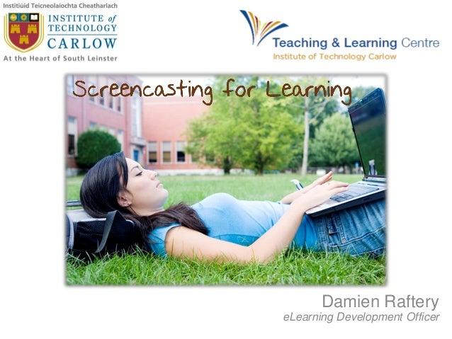 Damien Raftery eLearning Development Officer