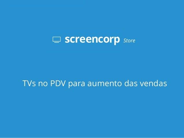 TVs no PDV para aumento das vendas Store