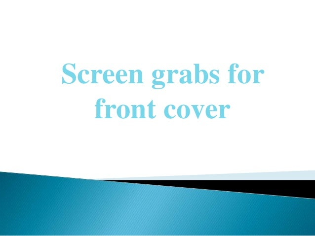 Screen grabs for  front cover