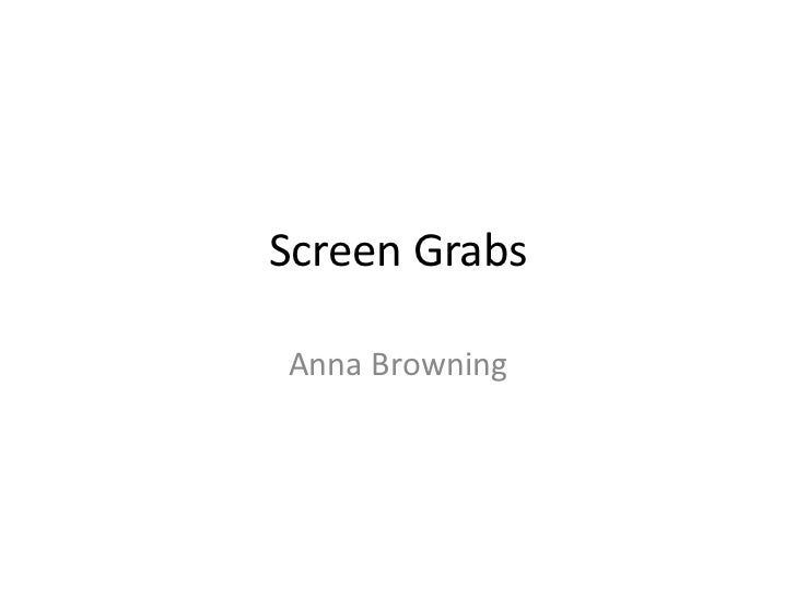 Screen GrabsAnna Browning