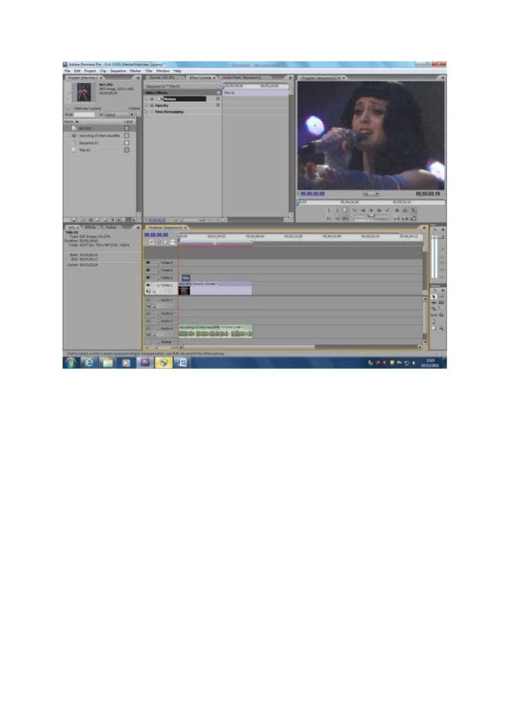 Screen grabs of my work