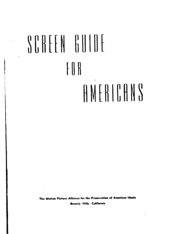 Screen guide for americans