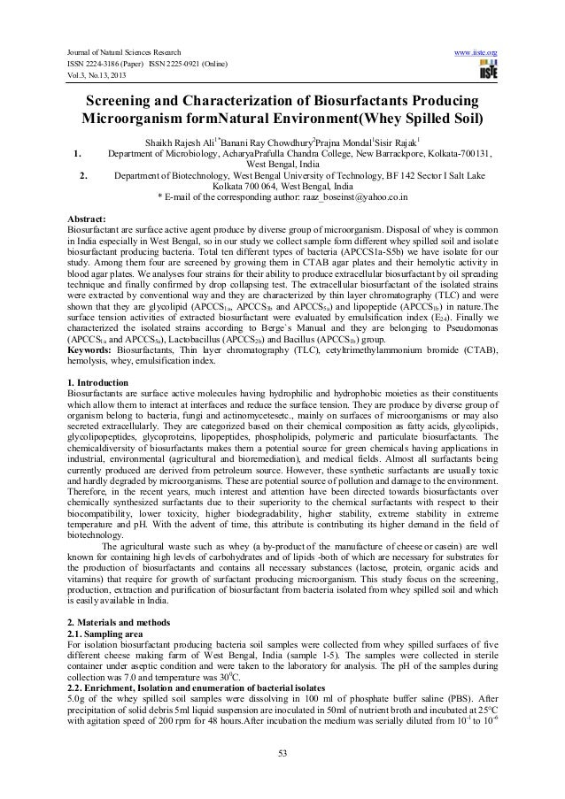Journal of Natural Sciences Research ISSN 2224-3186 (Paper) ISSN 2225-0921 (Online) Vol.3, No.13, 2013  www.iiste.org  Scr...