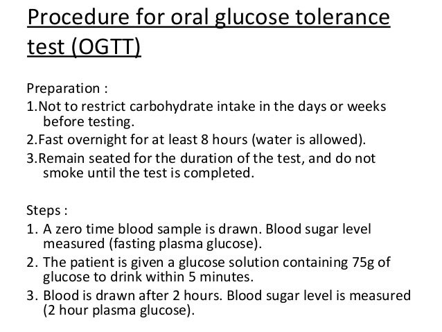 Oral Glucose Tolerance Test Procedure 52