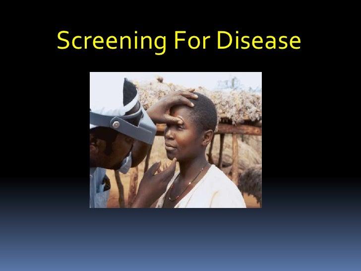 Screening For Disease