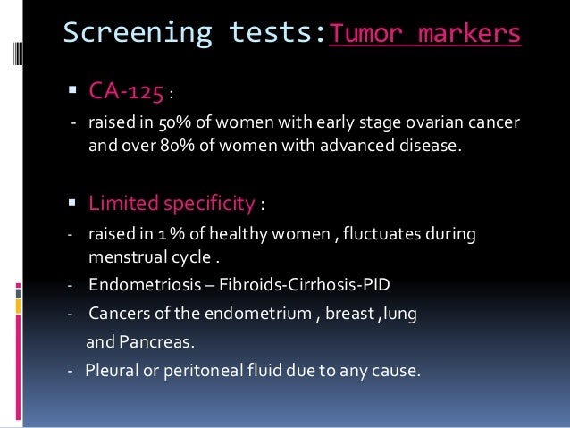 Screening For Ovarian Cancer May 15