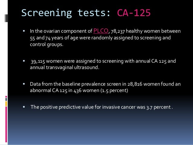 Ovarian cancer screening study: Tests do more harm than ...