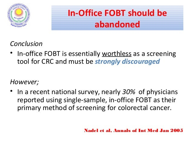 Screening In Colorectal Cancers Dr Ashutosh
