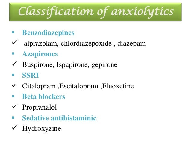 screening methods of anxiolytics, Skeleton