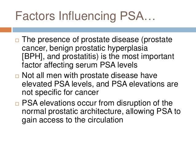 prostatitis and psa levels