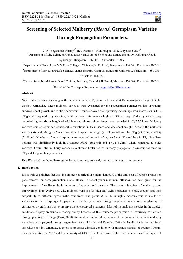 Journal of Natural Sciences Research                                                                www.iiste.org   ISSN 2...