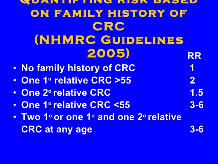 nhmrc guidelines for bowel cancer screening