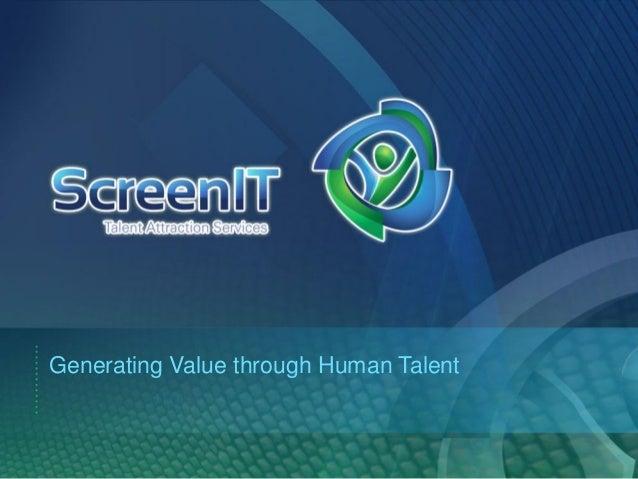 Generating Value through Human Talent