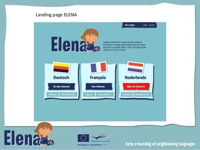 Landing page ELENA
