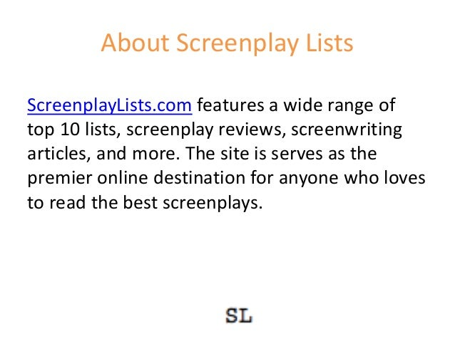 about screenplay lists