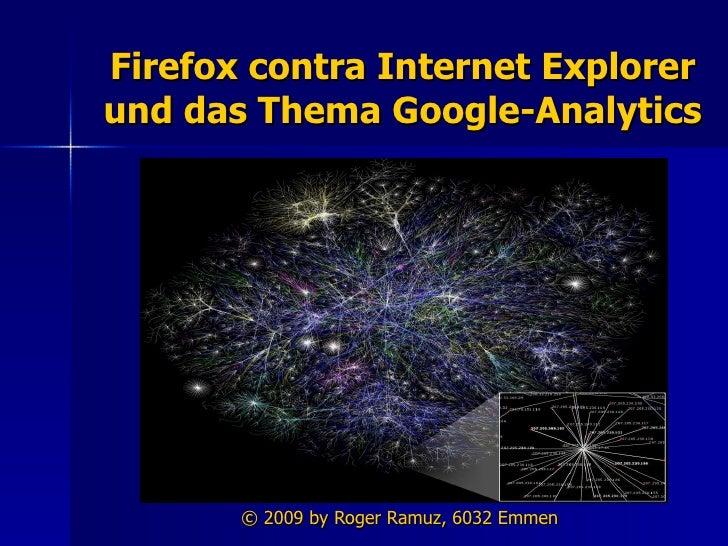 Bildschirmpraesentation Firefox contra Internet Explorer