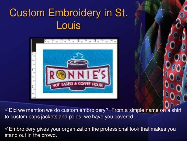 Nice Custom Embroidery And Screen Printing Facility By Stl Shirt Comp