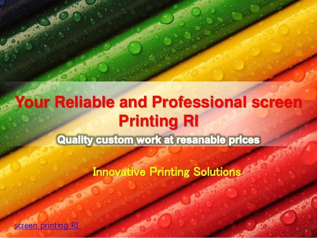 Innovative Printing Solutions Your Reliable and Professional screen Printing RI screen printing RI