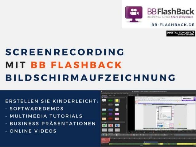 Screenrecording / Bildschirmaufzeichnung mit BB Flashback