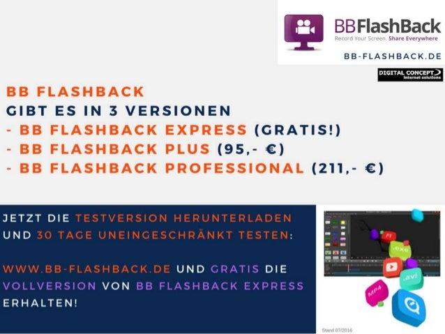Screenrecording / Bildschirmaufzeichnung mit BB Flashback Slide 3