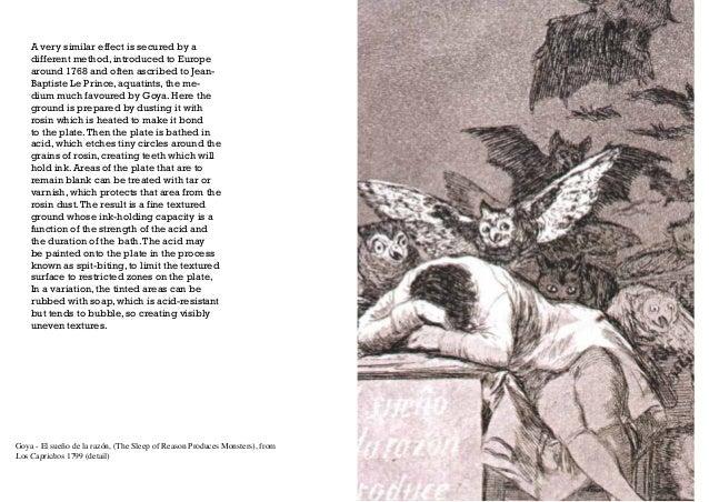 Goya - El sueño de la razón, (The Sleep of Reason Produces Monsters), from Los Caprichos 1799 (detail) A very similar effe...